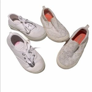 Other - 🎃 Two pairs of white, size 8, little girls shoes.